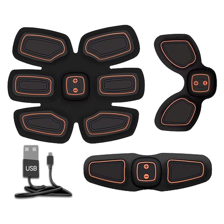心理的シールド電気技師腹筋トレーナーフィットネストレーニングギア、リモコン付きEMS筋肉刺激装置 - USB充電式究極腹部刺激装置 - 男性&女性用筋肉トナー (Size : B)