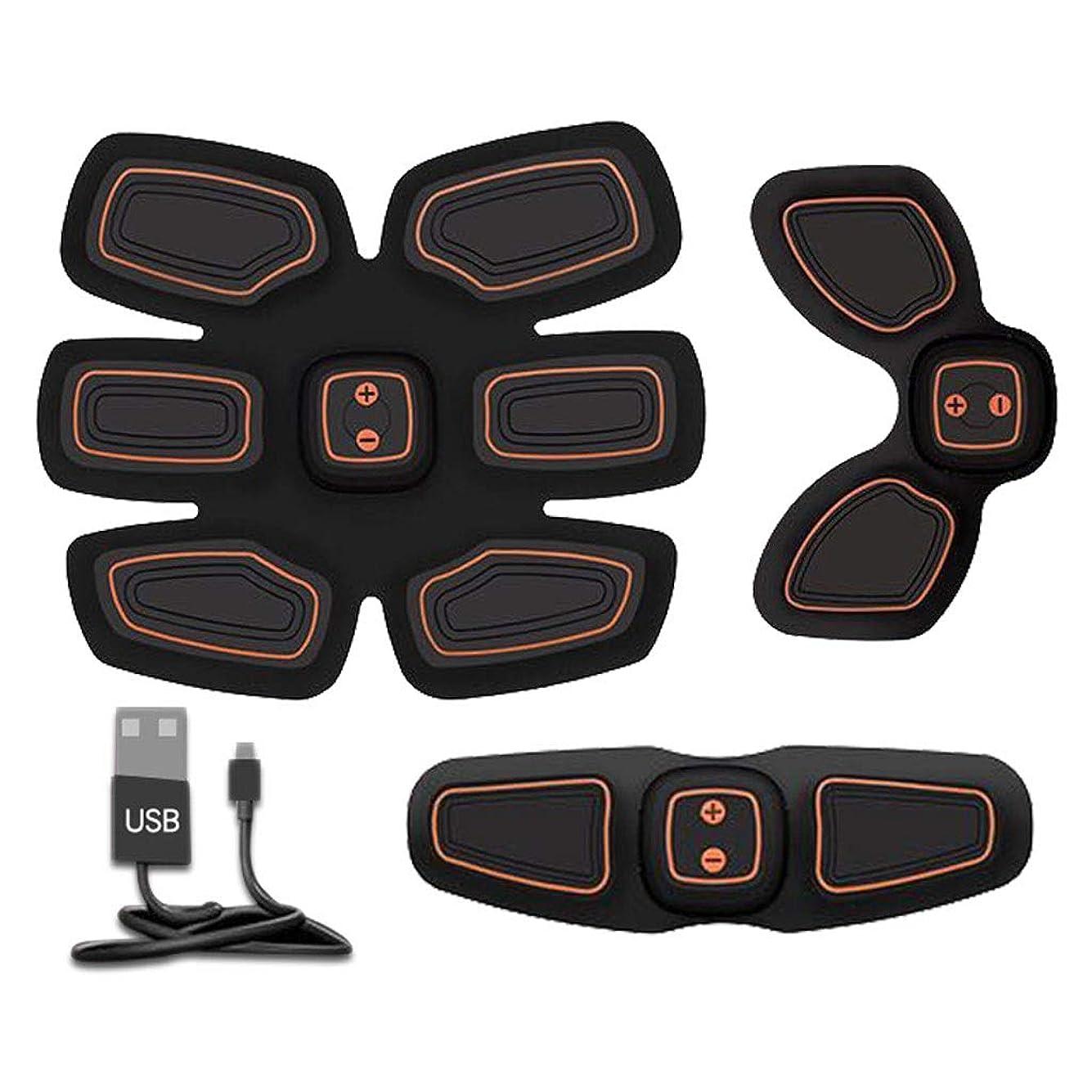 余裕がある命令的溶かす腹筋トレーナーフィットネストレーニングギア、リモコン付きEMS筋肉刺激装置 - USB充電式究極腹部刺激装置 - 男性&女性用筋肉トナー (Size : B)