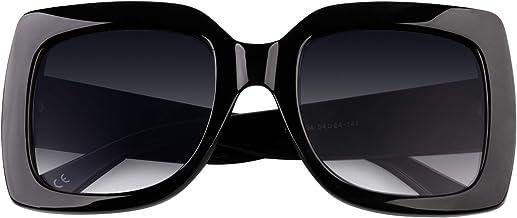 GQUEEN Gafas de sol para mujer con armazón grande y cuadrado Múltiples colores y con brillos Inspirados en diseñadores S904