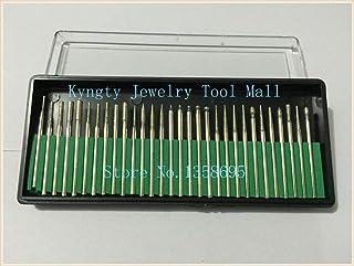 YUQIYU Smycketillverkning 30st en uppsättning diamantpolering Burs diamant spets borrar hängande motorborr