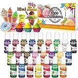 Seifenfarbe Set 24er x 10ml - Lebensmittelfarbe Flüssig, Hautverträgliche, Regenbogen...