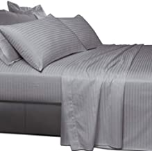 Essina 100% Cotton Super King Bed Sheet Set 4pc Colour Palette Collection, 680 Thread Count, Deep Pocket Super King Sheet,...