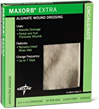 Medline MSC7044EPZ Maxorb Extra Dressings, 4