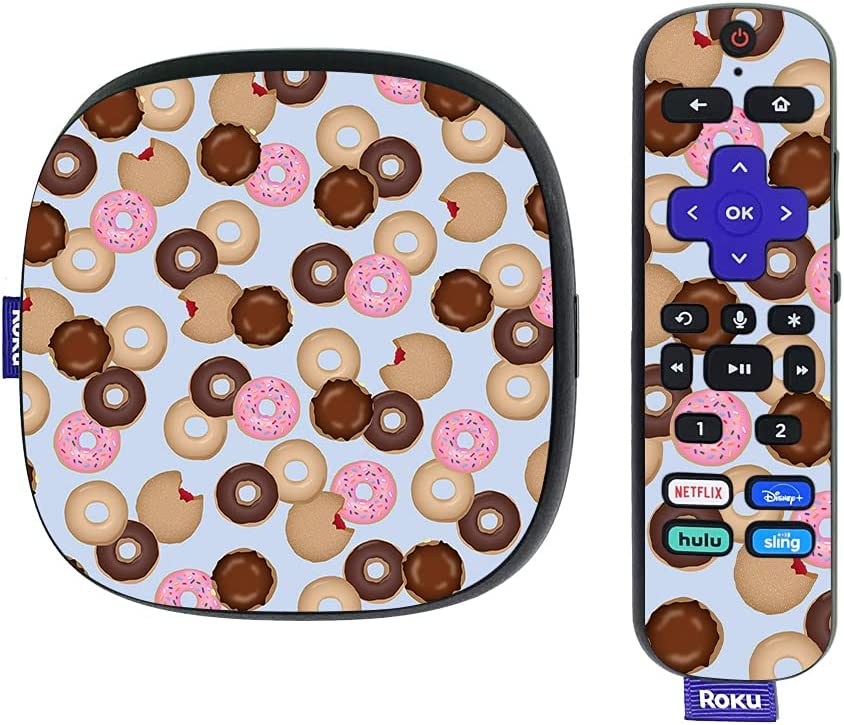 MightySkins Skin Compatible with Roku Ultra HDR 4K Streaming Media Player (2020) - Donut Binge | Protective, Durable, and Unique Vinyl Decal wrap Cover | Easy to Apply | Made in The USA
