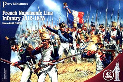 Napoleonic Wars Plastic Toy Soldiers Kit 28mm French Napoleonic Line Infantry 1812-15 42 Model Figures Wargaming Set