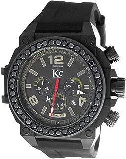 Men's New Techno Com Kc 50mm Weg Genuine 4.00ct Black Large Diamonds Large Watch