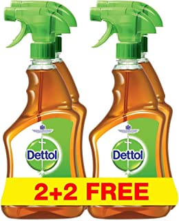Dettol Antibacterial Surface Disinfectant Cleaner Trigger Spray, 500 ml x 4
