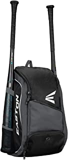 EASTON GAME READY Bat & Equipment Backpack Bag | Baseball Softball | 2020 | 2 Bat Pockets or for Water Bottles | Vented Main Compartment | Vented Shoe Pocket | Zippered Valuable Pocket | Fence Hook