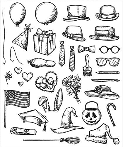marcas de diseñadores baratos Art Gone Wild Crazy Crazy Crazy Things Cling Stamp Set, gris by Stampers Anonymous  online al mejor precio