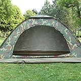 IFMASNN Camping, Tente, extérieur, imperméable, Rapide, léger, Compact, Manuel, Automatique, Camouflage (1-2-3-4 Personnes)
