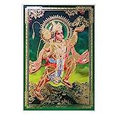 Bild Hanuman 33 x 48 cm grün Gottheit Hinduismus