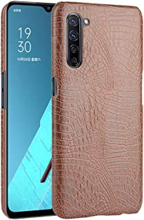 zl one Compatible with/Replacement for Phone Case OPPO K7 5G Crocodile Pattern PU Leather Case Back Cover (Brown)