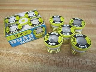 Bussmann W-20 Buss Plug Fuse W20 (Pack of 5)