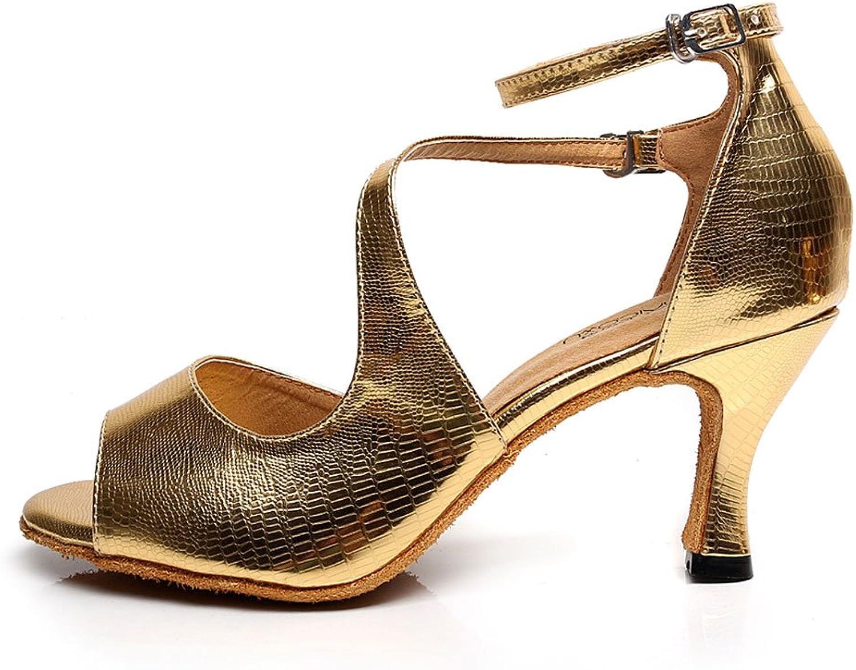 Cdso gold Women Ballroom Dance shoes Latin Salsa Party Wedding Dance shoes Sandals