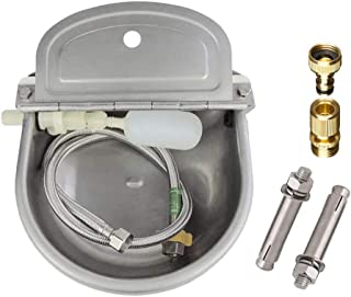 Lucky Farm Automatic Cattle Waterer Horse Sheep Goat Pig Dog Water Trough 4 in1 (Water Bowl&Pipe&Adaptor&Mounting Screws)