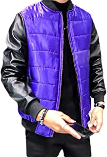 Jofemuho Mens Pure Color Hooded Winter Thicken Down Quilted Jacket Coat Outwear