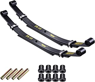 AW Set of 2 Rear Leaf Springs Compatible with Club Car DS Golf Cart Heavy Duty Dual Action with Bushings