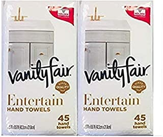 Vanity Fair Paper Hand Towels with Holder, 45 Count, Pack of 2