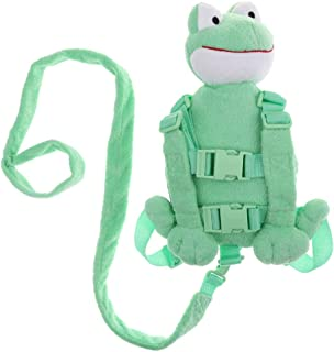 Baosity Safety Harness Backpack | Back Pack with Harness/reins | Infant Reins - Frog, as described