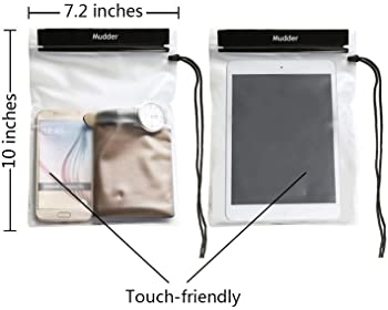 Mudder Waterproof Bags Pouch Case for Map, iPad, Camera and Mobile Phone, 4 Pack