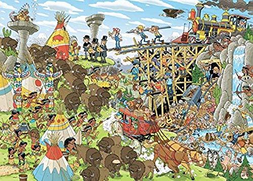 Adoff Puzzle de 1000 piezas, puzle del Oeste salvaje de History para adultos, regalo para los amantes de las aventuras imposibles y muy difíciles