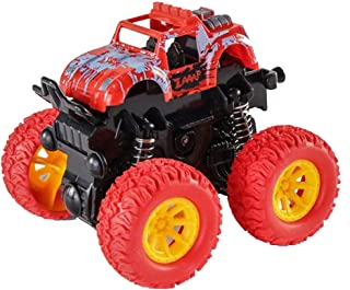 Monster Trucks Toys for Boys Friction Powered Car Mini Push and Go Car Truck Jam Playset for Boys Girls 360 Degree Rotation, Bob Up and Down Toddler Aged 3 4 5 6 7 8 Year Old Gifts for Kids Birthday