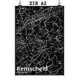 Mr. & Mrs. Panda Poster DIN A2 Stadt Remscheid Stadt Black