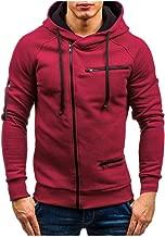 Rosatro Men Sport Jacket Mens Track Solid Outdoor Zipper Cardigan Outwear Stand Collar Full Sleeve Coat