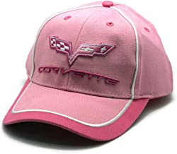 Hat - Chevrolet Corvette Pink Embroidered Ball Cap