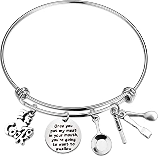 CYTING Chef Gift I Love to Cook Charm Bracelet Chef Jewelry Culinary Graduation Gift Cooking Lover Gift Once You Put My Me...