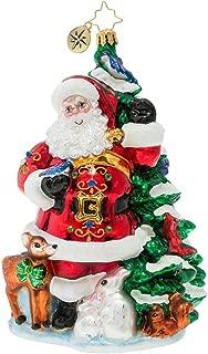 Christopher Radko Santa's Menagerie of Friends Christmas Ornament, Multicolored