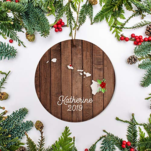 Lplpol Hawaii Christmas Ornament New House Hawaii Graduate First Year At College Just Moved Ornament Personalized 2019