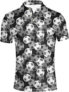 HUGS IDEA Novelty Men's Regular Fit Shirt Colorful Geometry Short Sleeve Sport Tennis Tees