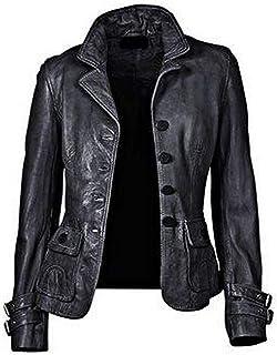 RedSeam Mens Genuine Lambskin Leather Jacket Two Button Blazer Sport Coat RB006