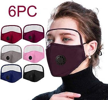 xixistaryy 6PCS Cotton Adult Face Macks Outdoor Dustproof Reusable Health Face Protection with Detachable Eyes Bandana