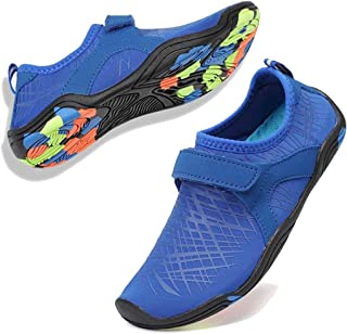 Boys & Girls Water Shoes Lightweight Comfort Sole Easy Walking Athletic Slip on Aqua Sock(Toddler/Little Kid/Big Kid)