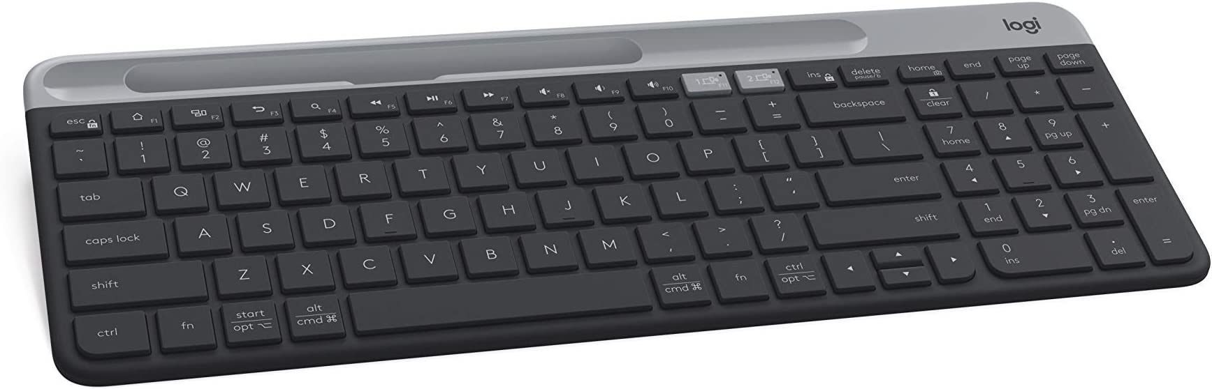 Logitech K580 Slim Multi-Device Wireless Keyboard for Chrome OS - Bluetooth/USB Receiver, Easy Switch, 24 Month Battery, Desktop, Tablet, Smartphone, Laptop Compatible (Renewed)