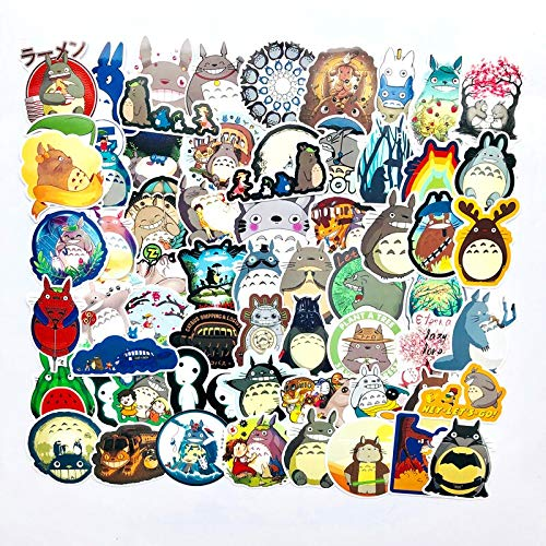 Film Mijn Buurman Totoro Cartoon briefpapier Stickers Voor Auto Laptop Notebook Bagage Decal Koelkast Skateboard 64 Stks/partij