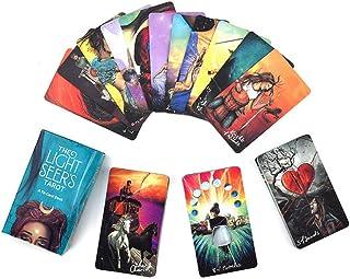 ライトシーアの78枚のタロットカード家族党ボードゲーム、サイキックタロットリーディングのガイドカラフルボックス付き、初心者向けボードゲーム用
