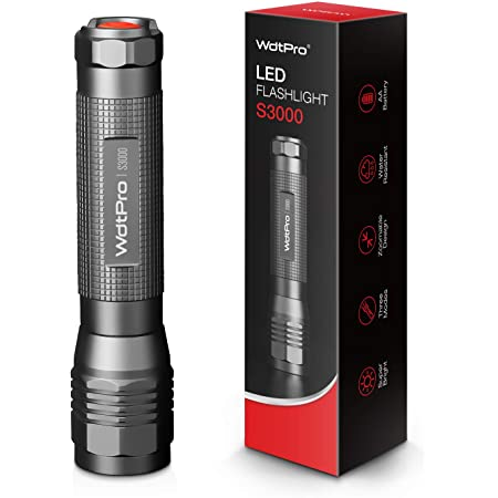 High-Powered LED Flashlight S3000, WdtPro Super Bright Flashlights - High Lumen, IP67 Water Resistant, 3 Modes and Zoomable for Camping, Emergency, Hiking, Gift