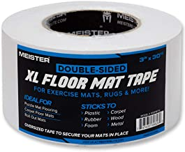 Meister Double-Sided XL Floor Mat Tape - Secures Exercise Mats & Rugs in Place