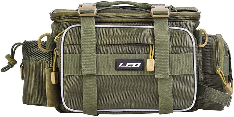 Large Size Fishing Bag Multifunctional Waterproof Outdoor Waist Shoulder Bag Case Reel Lure Storage Bag Fishing Accessories  Army Green