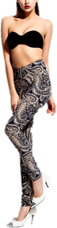 High fashion printed leggings elastic pencil pants