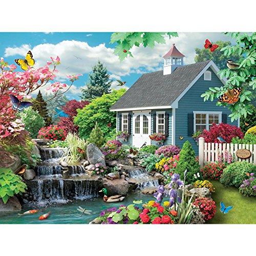 Bits and Pieces 300 Große Teile Puzzle für Erwachsene Traumlandschaft 300 Pc Spring Scene Jigsaw by Artist Alan Giana