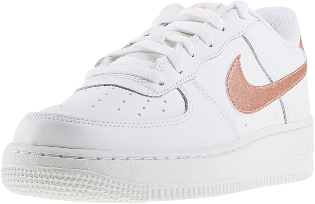 Nike Air Force 1 GS Baskets pour enfant Blanc Taille 36 : Amazon ...