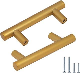 Tiradores de gabinete de gabinete tiradores de gabinete de acero inoxidable tiradores de cajón dorado para gabinete de ace...