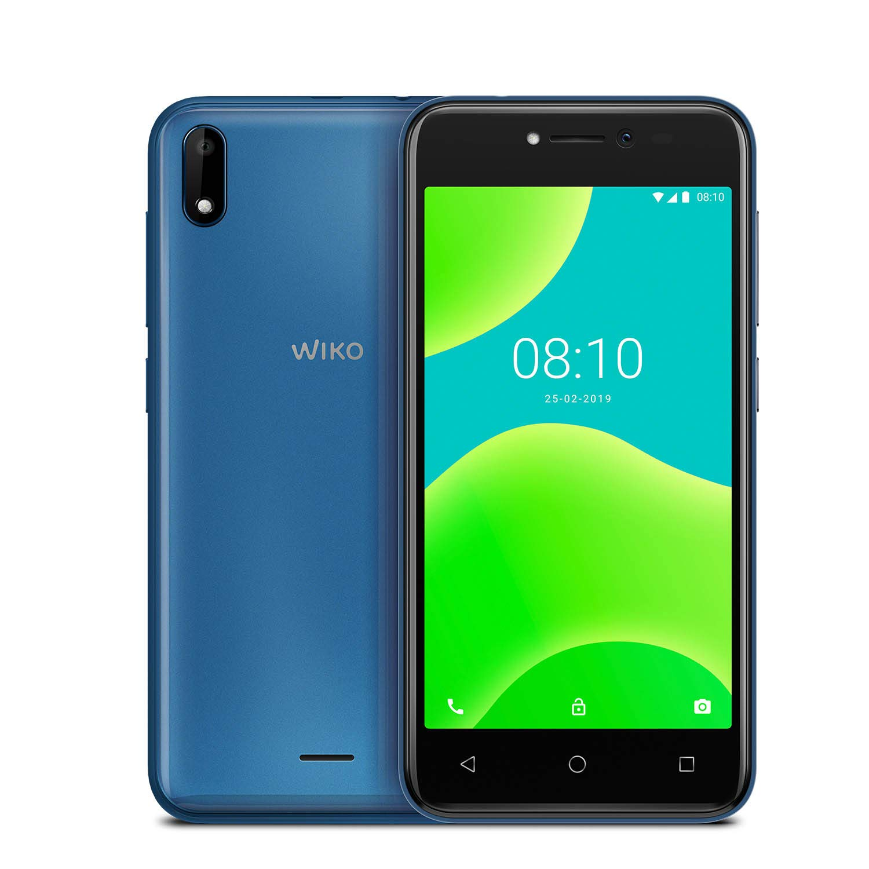 """WIKO Y50 + Carcasa - Smartphone de 5"""" (Dual SIM, 16GB de ROM ampliables, cámaras de 5MP con flash selfie, Quad-Core 1,3GHz, 1GB RAM, modo fácil de uso) Azul: Wiko: Amazon.es: Electrónica"""