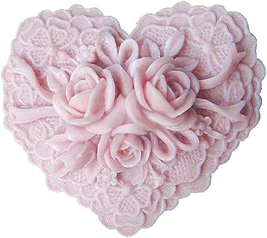 Great Mold Beautiful San Antonio Mall Flower Now free shipping Delicate Soap Floral Silicone Heart