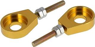 AKF Set: 2x Kettenspanner für Schwinge, Aluminium Gold eloxiert   Simson S51, S50, SR50, Schwalbe KR51, SR4