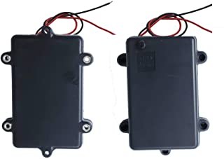Low Voltage Power Solutions: Water Resistant Battery Holders - 3AA Battery Cases with AAA Battery Adapters - Triple Battery Holder for Arduino, Lilypad Circuits, Cosplay, 2 Pack